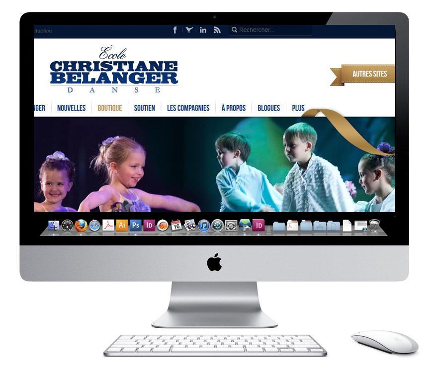 Conception site web à Québec pour la Boutique Christiane belanger-danse