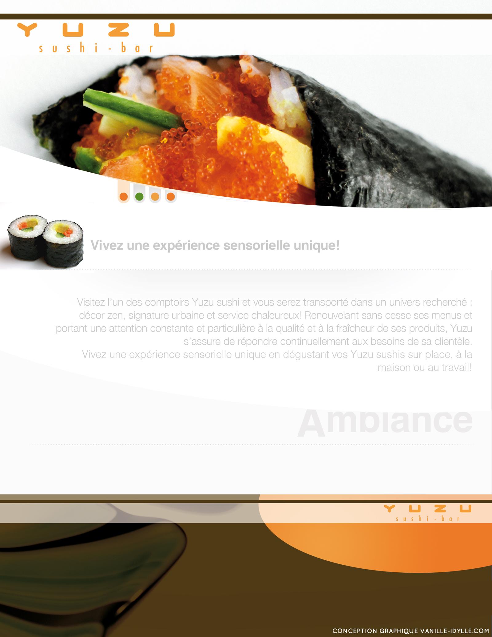 Conception site web à Québec du design web Yuzu Sushi